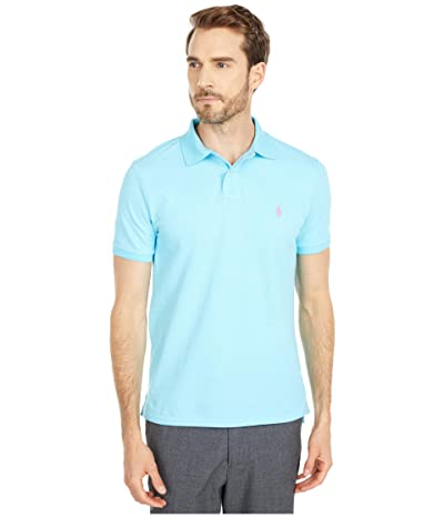 Polo Ralph Lauren Custom Slim Fit Mesh Polo (French Turquoise) Men