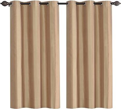 Deco Essential 1 nPiece Eyelet Window Curtain 5 ft-Milk Choco