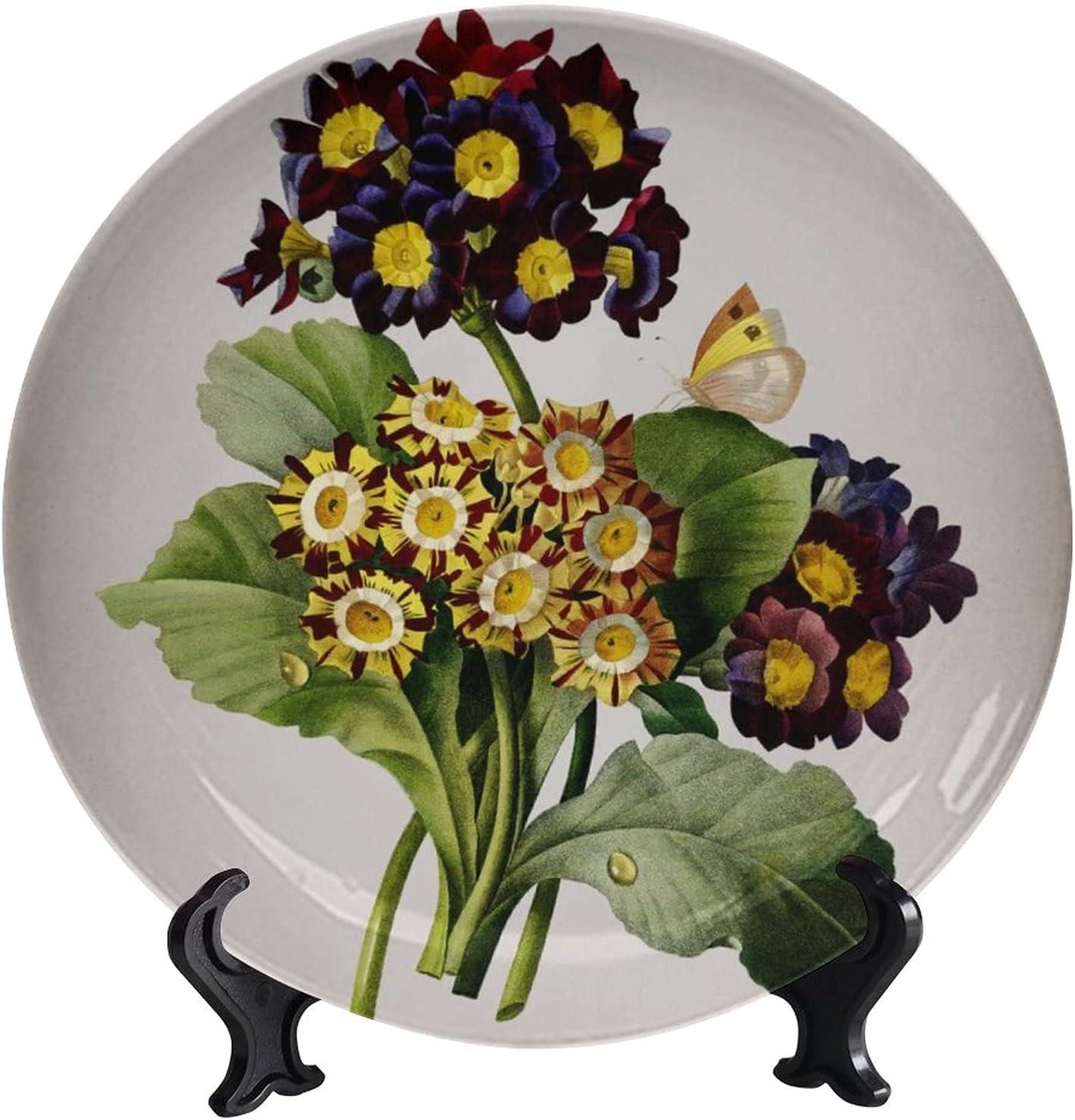 wonderr Ranking TOP12 Vintage Antique Flower Decoration Decorative Max 61% OFF Art Plates