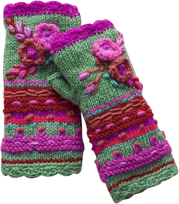 EseFGJK Womens Winter Knitting Wool Gloves Keep Warm Half Finger Casual Gloves for Outdoor