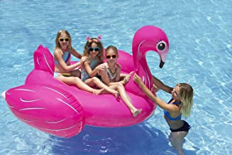 Poolmaster Jumbo Swimming Pool Float Rider, Flamingo