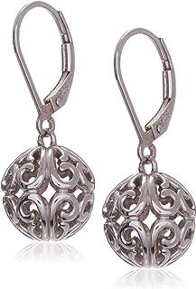 Amazon CollectionPlata de ley filigrana bola Dangle Earrings
