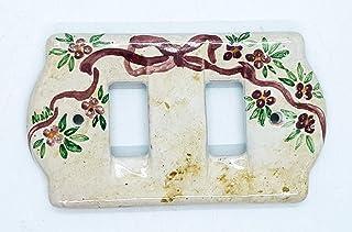 Placchette Bticino Magic/Living Fiocco Rosa Ceramica Handmade Le Ceramiche del Castello Made in Italy