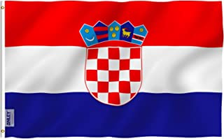 ANLEY [Fly Breeze] 3x5 Foot Croatia Flag - Vivid Color and UV Fade Resistant - Canvas Header and Double Stitched - Croatia...