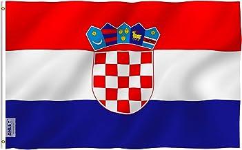 Anley Fly Breeze 90 x 150 cm Bandera Croacia - Colores Vivos y Resistentes a Rayos UVA - Bordes Reforzados con Lona y Doble Costura - Croata Banderas Poliéster con Ojales de Latón 90 x 150 cm