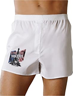 Distressed Paris Stop The Violence Boxers Shorts