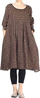 brown poplin dress