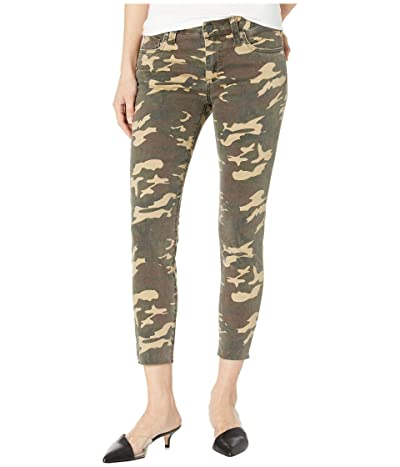 KUT from the Kloth Connie Crop Skinny Jeans w/ Raw Hem in Olive (Olive) Women