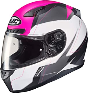 HJC Unisex Adult Full Face CL-17 Omni Motorcycle Helmet (MC-8SF White/Pink/Grey,  X-Small)