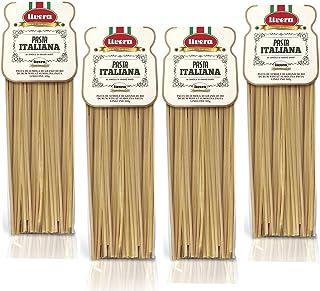 Livera Linguine 4 X 500 Gr, Pasta Largas de Sémola de Trigo Duro 100% Made in Italy, Linguine Elaborada en Bronce, Excelencia Italiana, Pasta Artesanal italiana Seca de Alta Calidad, Cocina 12'