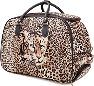Folding Carry-on Bag Foldable Travel Bag Women Large Capacity Portable Shoulder Duffle Bag Cartoon Printing Waterproof Weekend Luggage Tote S19