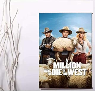 A Million Ways to Die in The West Movie Poster Artwork That Enriches Life Print on canvas -50x75cm Geen Frame