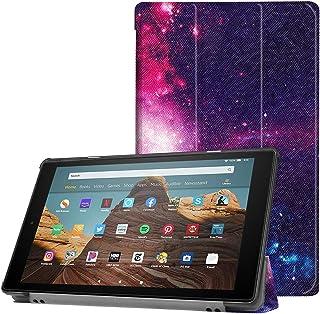 Capa ESSTORE-EU para tablet Fire HD 10 (tablet de 10,1 polegadas, 9ª/7ª geração – Versão 2019/2017), capa inteligente com ...