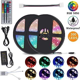 Led Strip Lights, 32.8ft RGB Led Lights Strip 5050 LED Tape Light, Color Changing Led Strip Lights with 44 Keys IR Remote for Bedroom, TV, Home Decor