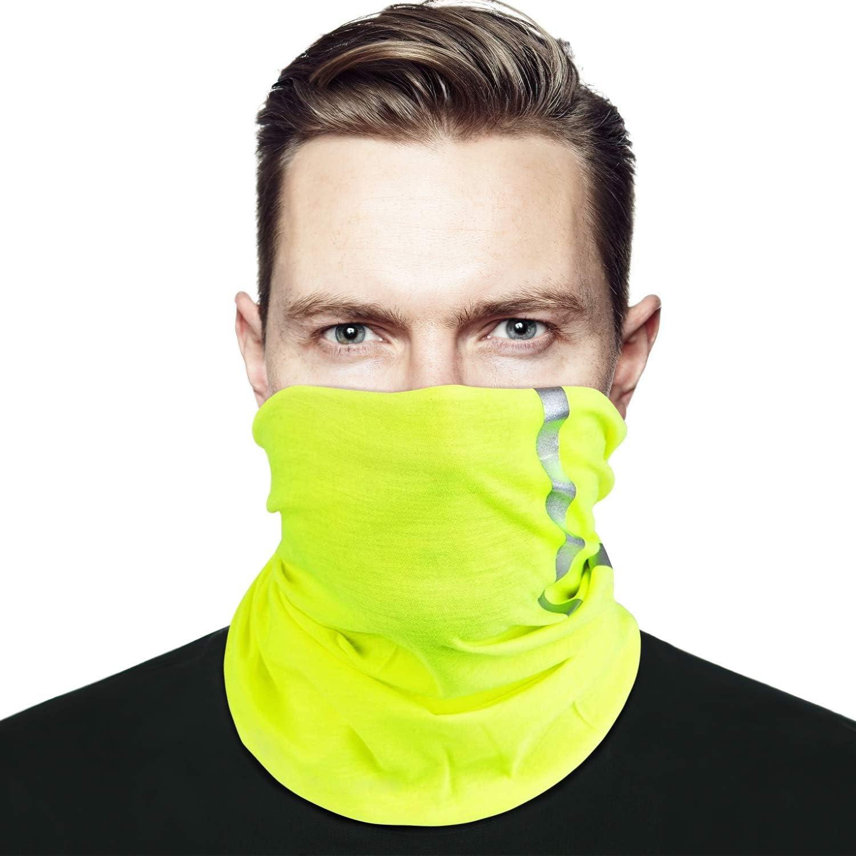 Hi Vis Reflective El Paso Mall Safety Face Neck Sc Gaiters Genuine Bandanas Clothing