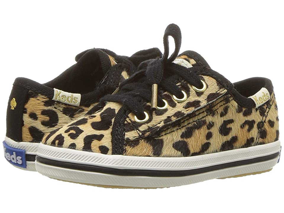Keds x kate spade new york Kids Kickstart Seasonal Toe Cap (Toddler/Little Kid) (Leopard) Girls Shoes