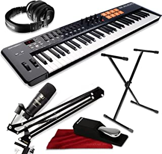 M-Audio Oxygen 61 IV USB MIDI Keyboard Controller with Marantz Pod Pack 1 Broadcasting Microphone Kit and PreSonus HD9 Headphones Platinum Bundle