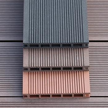 Wpc suelo al aire libre/el balcón,baño,jardin,suelo de madera de diy/jardín,terraza,pisos de madera-F: Amazon.es: Bricolaje y herramientas