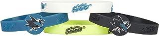 aminco NHL San Jose Sharks Silicone Bracelets, 4-Pack