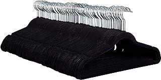ZOBER Non-Slip Velvet Hangers - Suit Hangers (100 Pack) Ultra Thin Space Saving 360 Degree Swivel Hook Strong and Durable ...