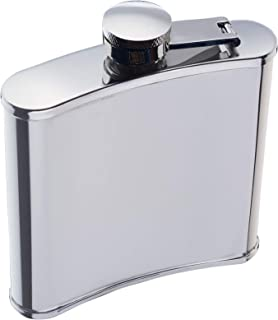 BarCraft Hip Flask, Stainless Steel, 170 ml Silver