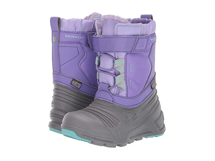 Merrell Kids  Snow Quest Lite 2.0 Jr Waterproof (Toddler) (Grey/Purple) Girls Shoes