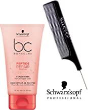Schwarzkopf BC Bonacure Repair Rescue SEALED ENDS for damaged ends (with Sleek Steel Pin Tail Comb) (2.5 oz / 75ml - retail size)
