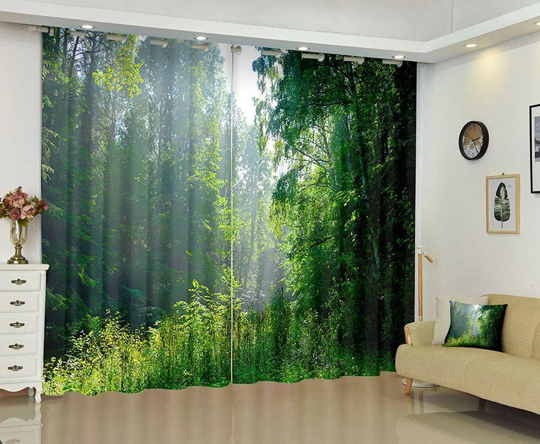 Artsure Misty Forest Blackout Max 59% OFF Curtains for supreme Bedroom Gre Landscape