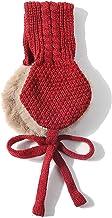 Kids Tie Warm Knit Winter Girls Head Wear Accessories Wool Ear Covers with Ball Earmuffs