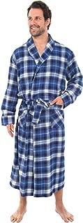 Men's Lightweight Flannel Robe, Soft Cotton Kimono