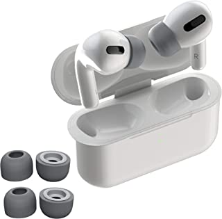 Best CharJenPro AirFoams Pro Foam Ear Tips for AirPods Pro. Premium Memory Foam Ear Tips. No Silicone Ear tip Pain. The Original from Kickstarter. (2 Size: Small/Med & Med/Large, Space Grey) Review