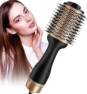 Secador de pelo y voluminizador profesional de un solo paso de 1200 W Cepillo de aire caliente con iones negativos para ri...