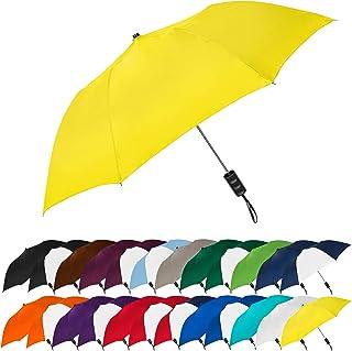 STROMBERGBRAND UMBRELLAS Spectrum Popular Style Automatic Open Close Small Light Weight Portable Compact Tiny Mini Travel Folding Umbrella for Men and Women, Yellow