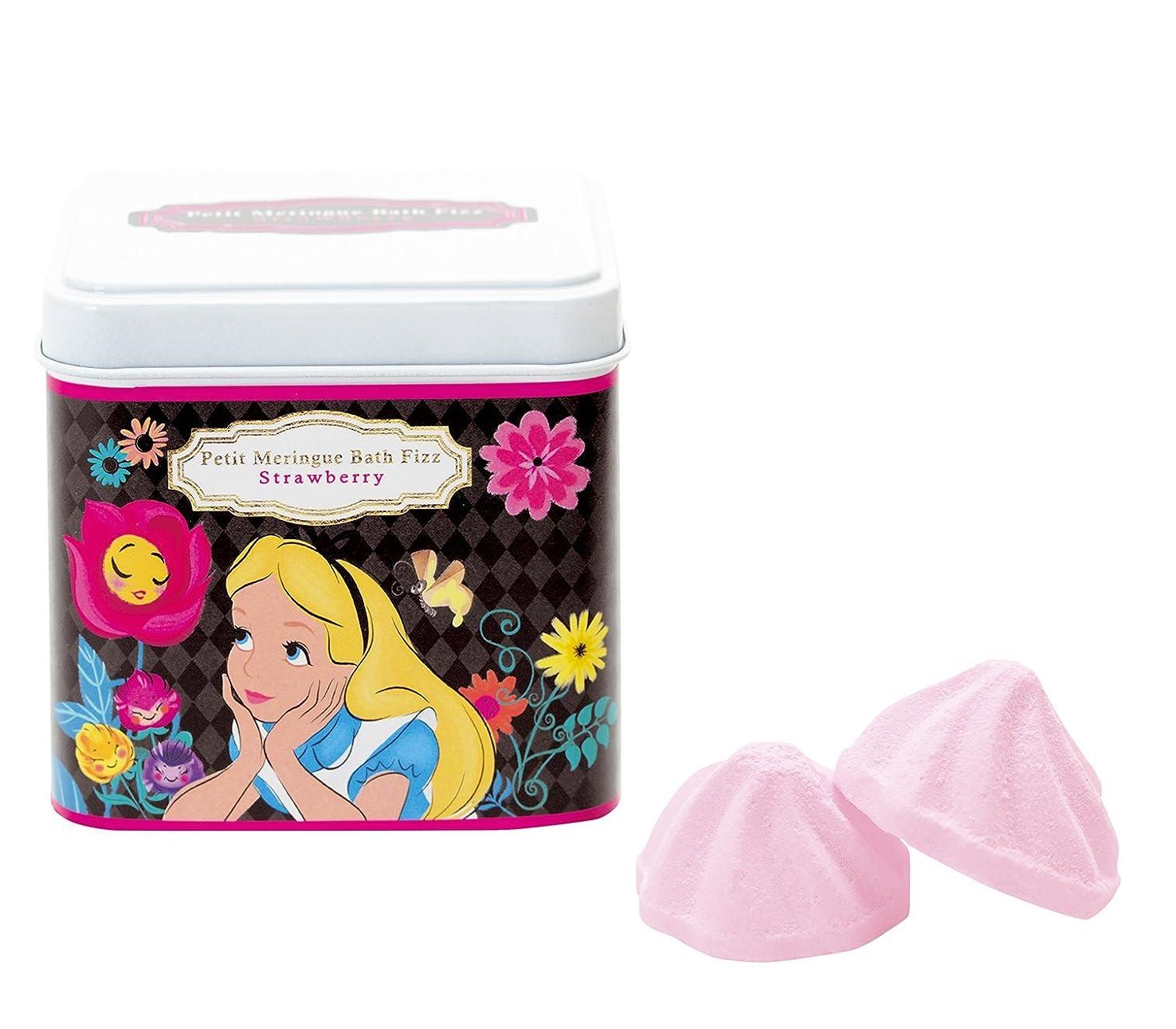 ビット火山学驚くべきディズニー 入浴剤 バスフィズ ふしぎの国のアリス ストロベリーの香り 135g DIP-86-01