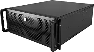 Rosewill 4U Server Chassis/Server Case/Rackmount Case, Metal Rack Mount Computer Case with 8 Bays & 4 Fans Pre-Installed (RSV-R4000)