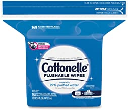 Cottonelle Wipes,Refill,168,WH(Packaging May Vary)