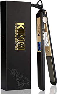 Pro Nano-Titanium Hair Straighteners,Dual Voltage Hair Straightening Irons with Digital LCD Display UK,Matte Black Hair cu...