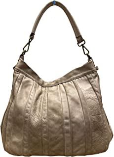 BZNA Bag Lennja taupe Italy Designer Damen Handtasche Schultertasche Tasche Leder Shopper Neu