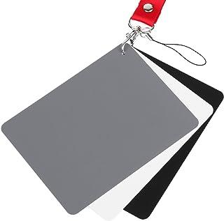 ChromLives White Balance Grey Card 5''x4'' for Video DSLR and Film Premium 18% Exposure Photography Card Set,Black White a...