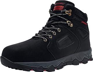DYKHMILY Bottes de Securite Homme Boots De Securite Chaussures de sécurité Embout Acier Respirant Réfléchissant Chaussures...