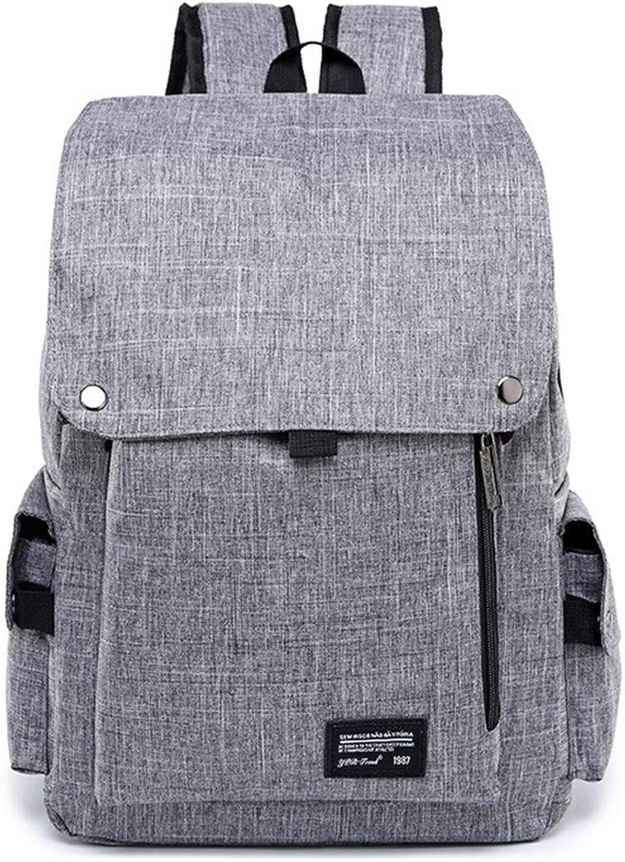 Herren Business Computer Tasche Rucksack Reisetasche Rucksack Studententasche, 43 × 29 × 13 cm, Grau