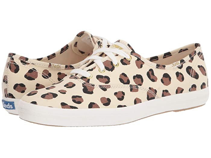 Keds  Champion Leopard (Cream) Womens Lace up casual Shoes