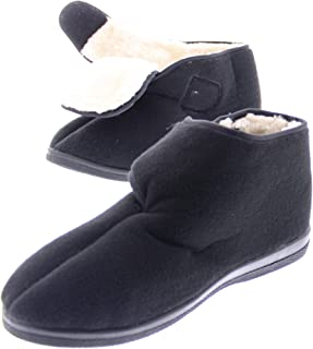 Womens Wide Adjustable Strap Orthopedic Wrap Slipper Bootie Memory Foam House Shoes
