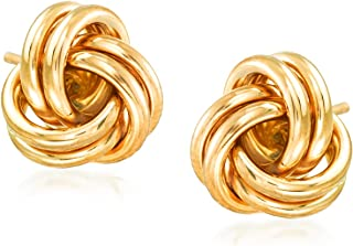 large gold knot earrings