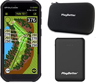 $414 » SkyCaddie SX550 Handheld Golf GPS Power Bundle | Includes PlayBetter Portable Charger and Protective Hard Case | Golf GPS ...