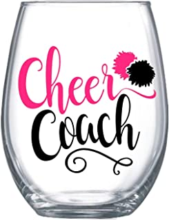 Cheer Coach Gifts for Women Large Stemless Wine Glass for Her ZCA0010