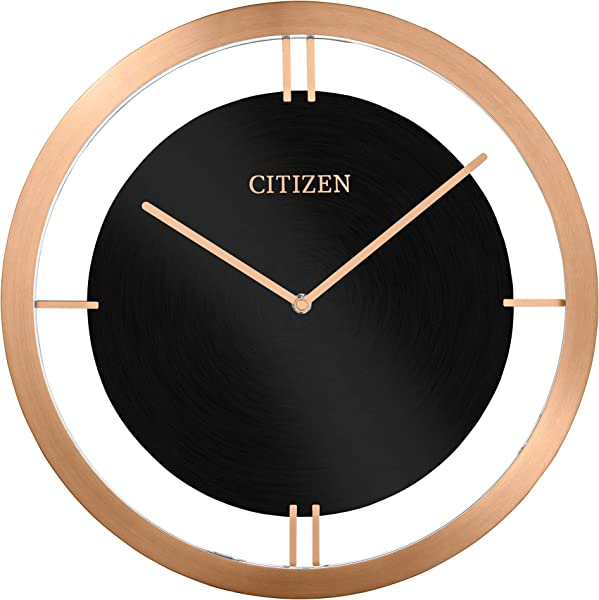 Citizen Clocks Citizen CC2043 Gallery Wall Clock Rose Gold Tone