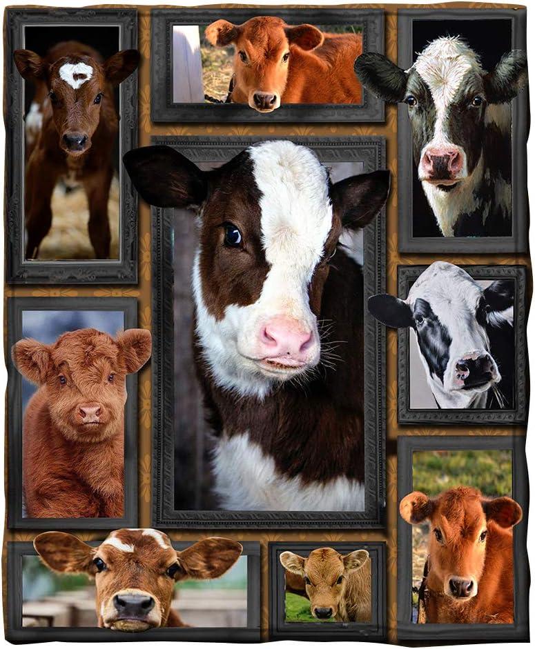 Puurbol Cow Blanket Max 53% OFF Gift Fleece New arrival Throw