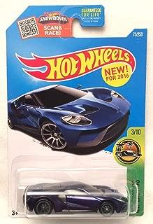 Hot Wheels 2016 HW Exotics '17 Ford GT 73/250, Blue (Super Treasure Hunt)