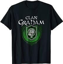 Graham Surname Scottish Clan Tartan Crest Badge T-shirt